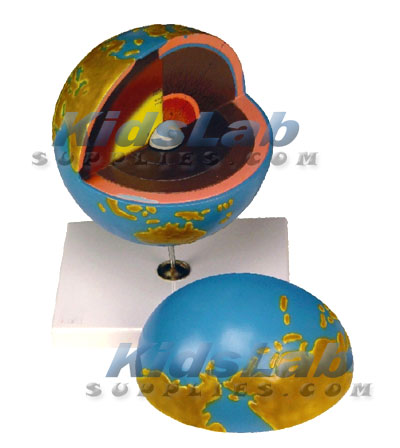 Showing All The Major Zones Of Planet Earth Model Has 7 Detachable Parts Representing Different Layers And Its Core Colors For